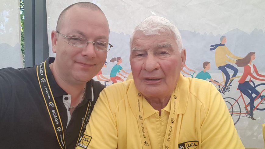 Laurent Fournel et Raymond Poulidor