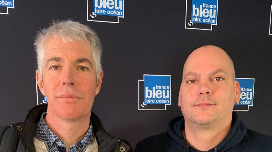 On cuisine : Christophe Debray du  restaurant Le Moulin de l'Epinay à La Chapelle Saint Florent et Eric Gravouille du Domaine du Haut plessis .
