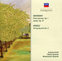 Sextuor en Ut Maj op 37 :  Finale - pour piano violon alto violoncelle clarinette et cor - QUATUOR TAKACS