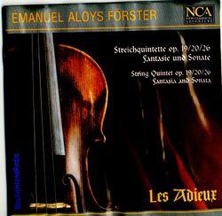 Fantaisie et sonate en ré min op 25 : Menuetto in canone - Trio - arrangement pour 2 violons 2 altos et violoncelle - ENSEMBLE LES ADIEUX