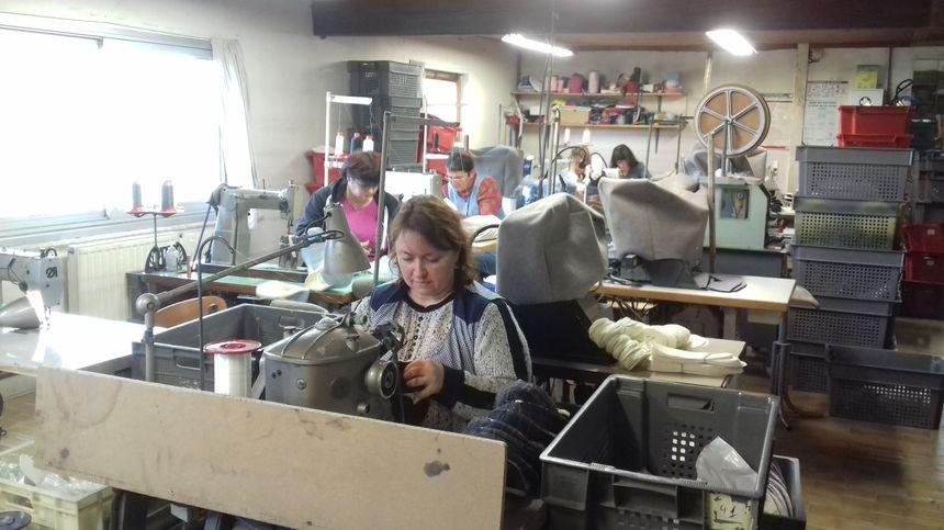 L'atelier couture de l'entreprise