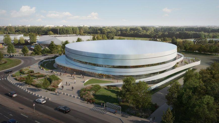 Le futur palais des sports de Caen la mer en face du zénith de Caen