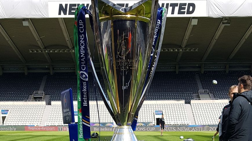 Trophée de la Champion's Cup à Newcastle en 2019