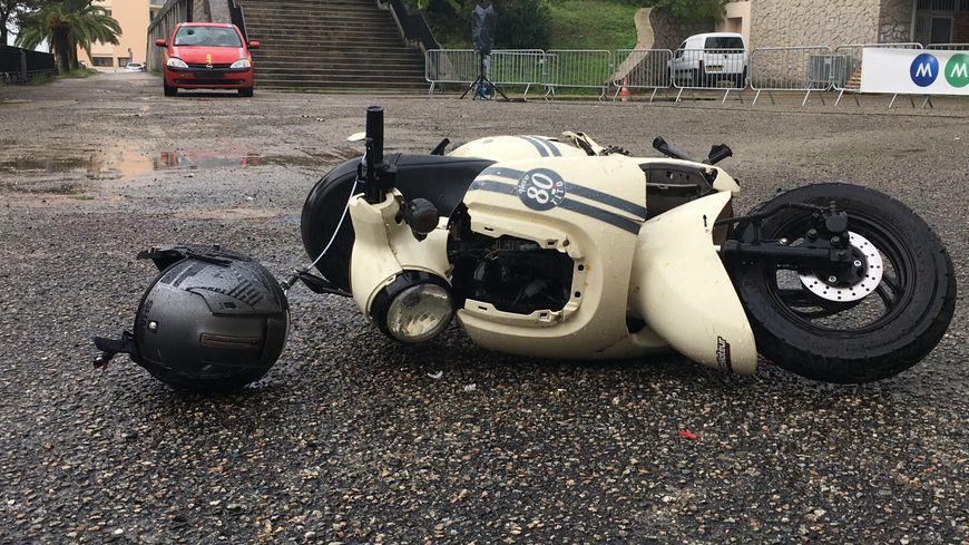 le crash test a été effectué dans la cour du collège Laetitia