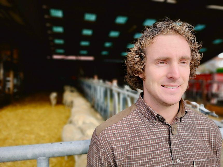 """Romain Poureau, l'agriculteur de la """"Ferm'Avenir du Bercail"""" à Gillonnay - Radio France"""