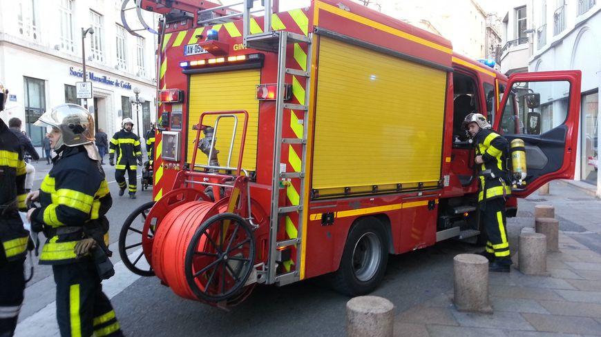 Un camion des pompiers