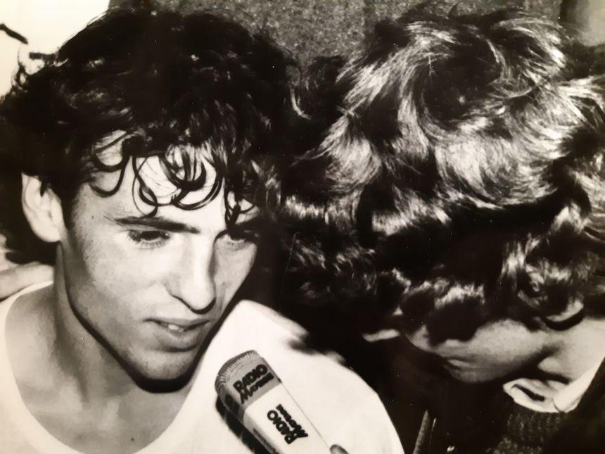 José Souto dans les vestiaires de Le Basser ce 28 septembre 1983