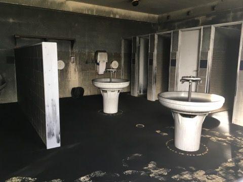 Les salles qui n'ont pas été détruites, sont inutilisables dans cette écoles de Béziers