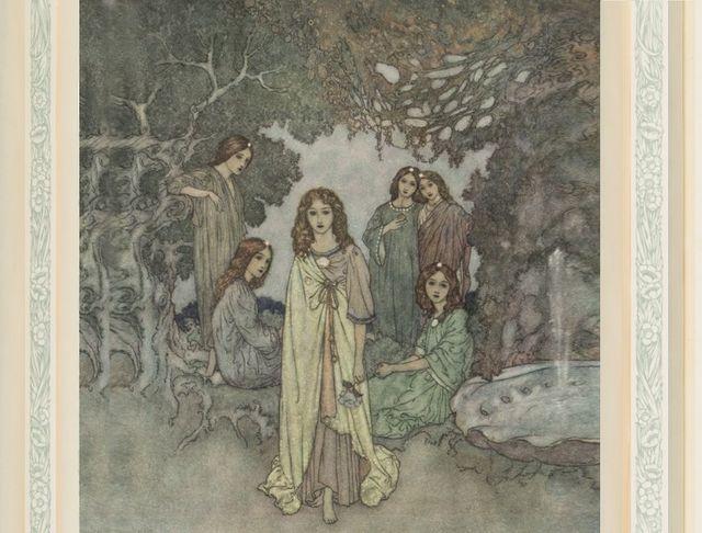 """""""Tout à coup parut la fée du Paradis"""", La reine des neiges, illustration Edmond Dulac"""