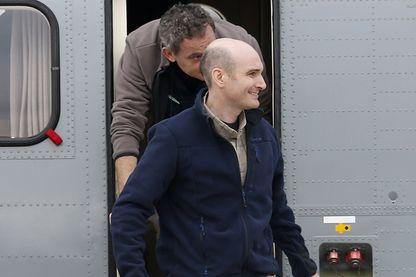 Nicolas Hénin lors de son retour en France après avoir été retenu 10 mois en otage