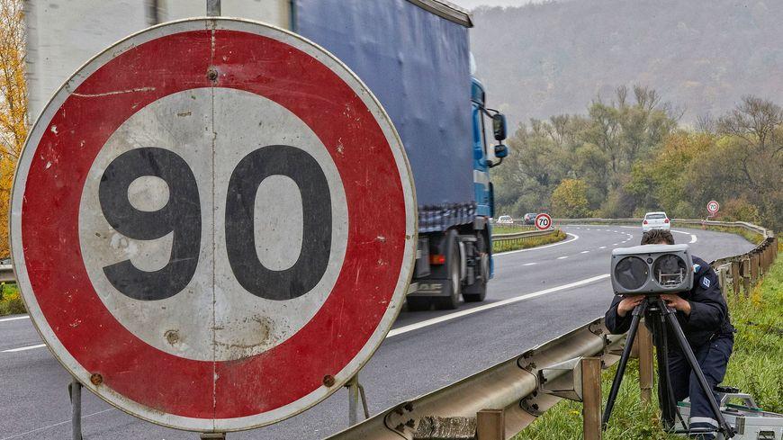 Un contrôle routier.