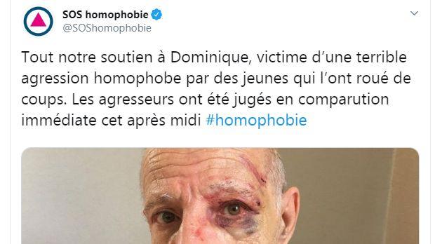 SOS Homophobie fait partie des associations qui ont réagi après l'agression de Dominique lundi soir à La Roche-sur-Yon.