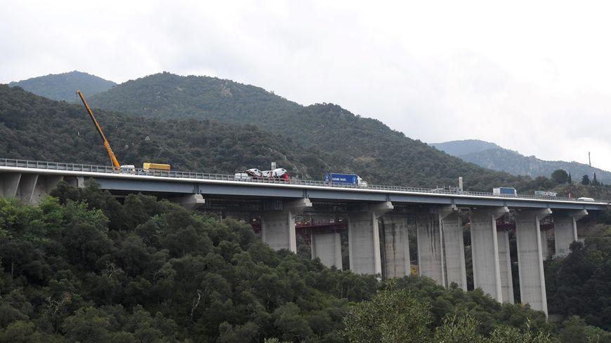 Les travaux d'élargissement de l'autoroute A9 entre le Boulou et le Perthus