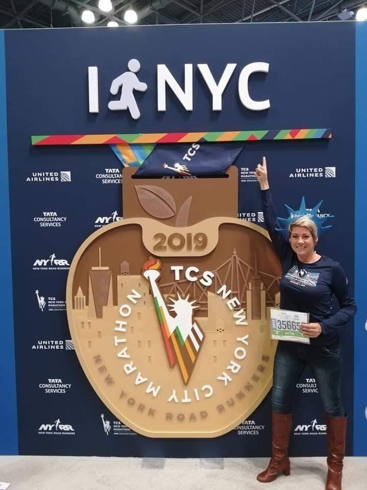 Laure Cousseau au Marathon de New-York 2019