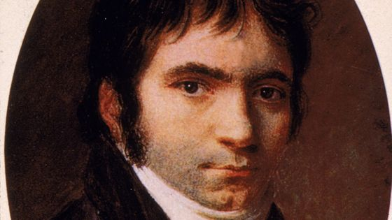 Ludwig van Beethoven (1770 - 1827), d'après un tableau de Christian Horneman, 1803 (detail)