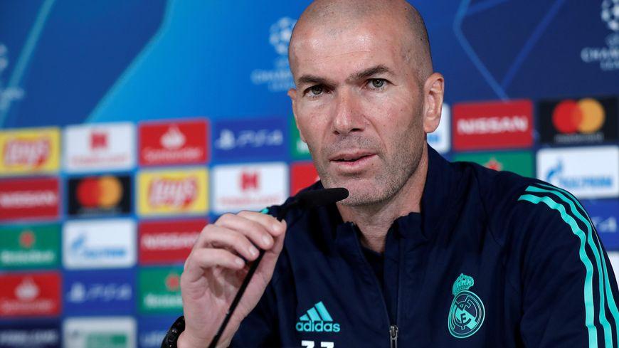 Zinédine Zidane à la veille de la réception du PSG par le Real Madrid