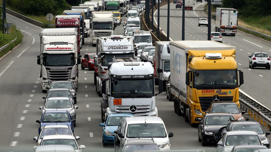 Les transporteurs routiers se mobilisent ce jeudi dans le Nord et le Pas-de-Calais (photo d'illustration)