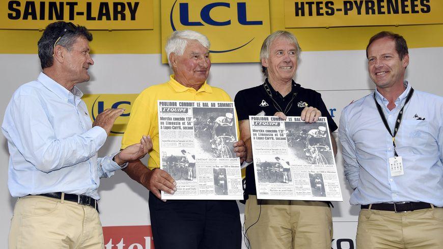 Sur le Tour 2014 avec Bernard Thévenet et Daniel Mangeas