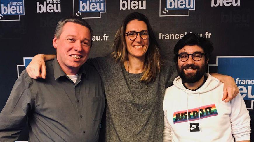 Bruno Hermant du site Culture PSG, Pia Clemens, et Martin Bartoletti