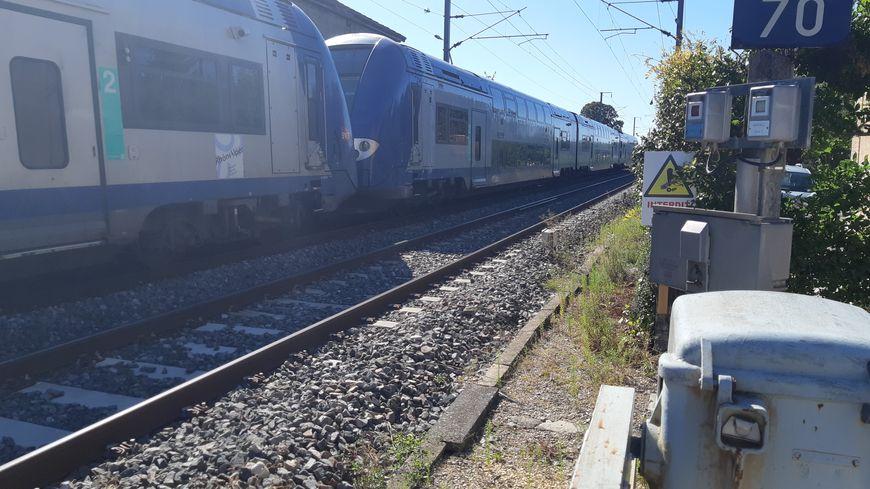 Un TER en gare en région AURA