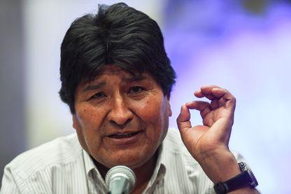 Le Président déchu de la Bolivie, Evo Morales, lors d'une conférence de presse, mercredi 13 novembre à Mexico City où il s'est exilé.