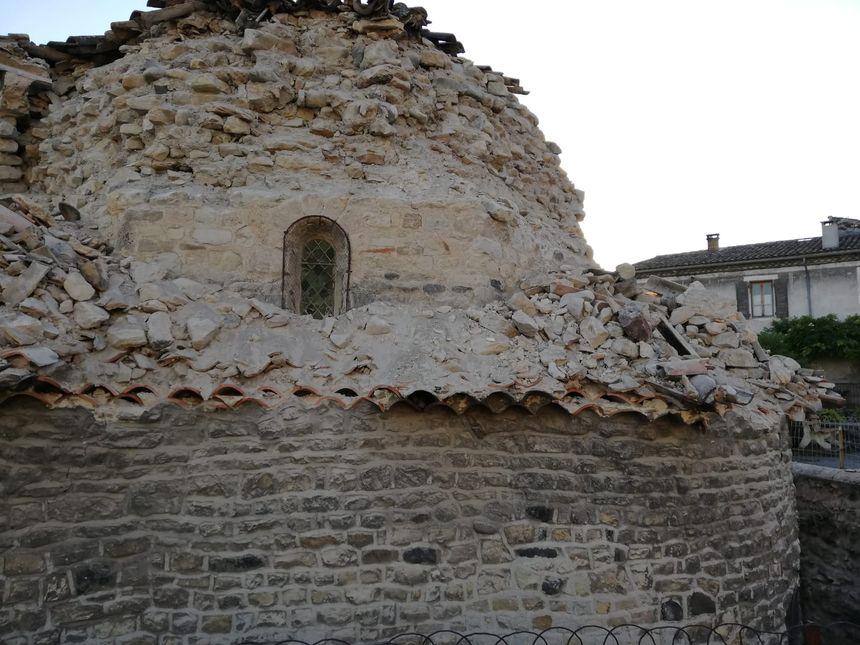 L'église du quartier Mélas au Teil (Ardèche) fragilisée par le séisme