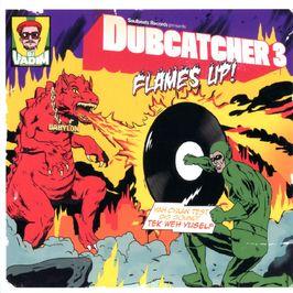 """Pochette de l'album """"Dubcatcher 3 : Flames up"""" par Serocee"""