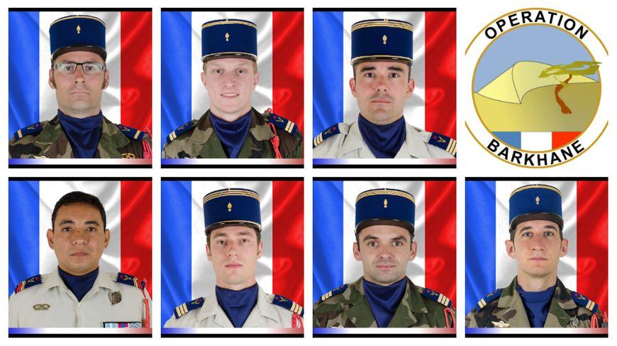 Les sept militaires de Pau décédés au Mali.