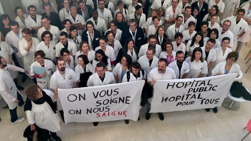 Le mouvement de grève a été suivi par plus de la moitié des praticiens de l'hôpital du Mans