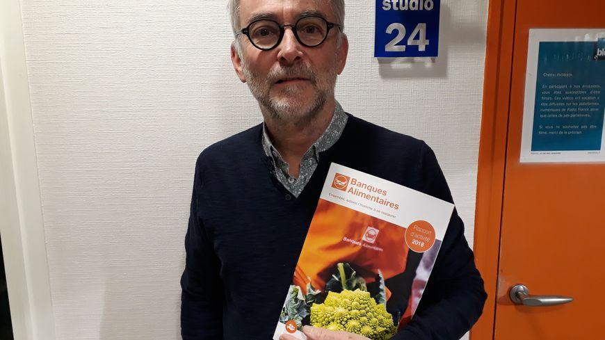 Christian Lacoste, le président de la Banque alimentaire en Sarthe, espère récolter une centaine de tonnes de denrées au cours de la grande collecte annuelle