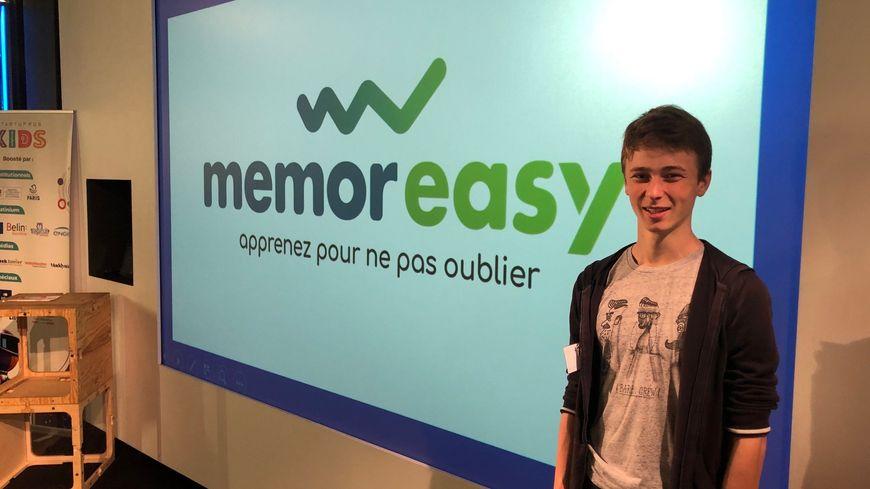 """Mathis est en première et il a créé en deux ans son application sur le web """"Memoresasy"""" pour mieux mémoriser les leçons."""