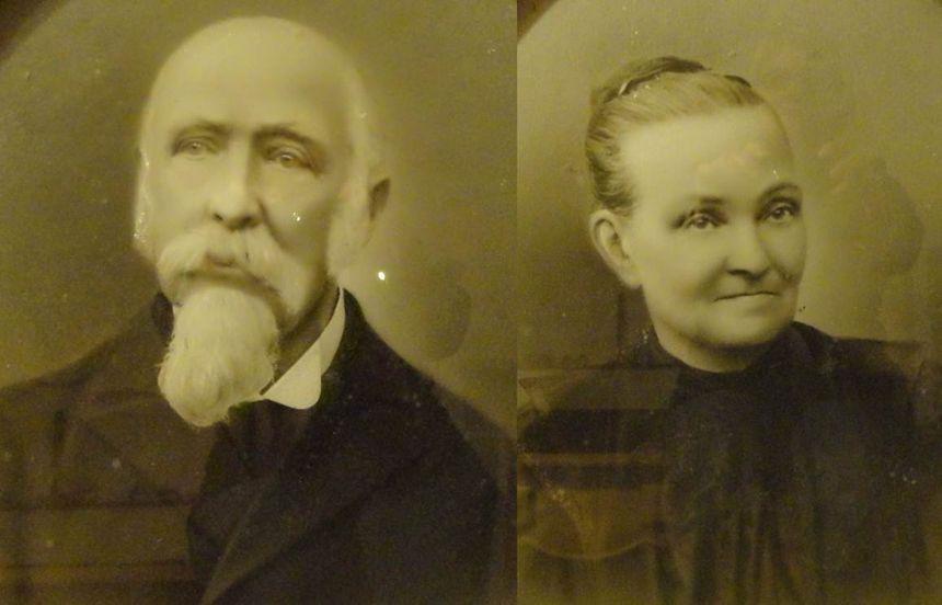 Jacques Thomas le fondateur du Bazar Saint-Joseph à Orléans et son épouse