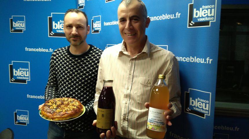 Sébastien Roux et Hervé Larguier producteur de pommes, poires et kiwis à Cavaillon