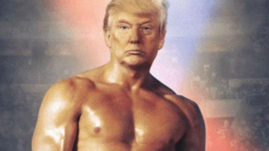 Donald Trump en Rocky sur son compte Twitter.