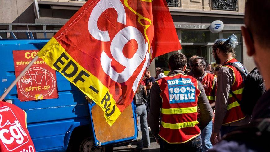 Lors d'une manifestation de salariés d'EDF, le 19 septembre dernier à Paris.