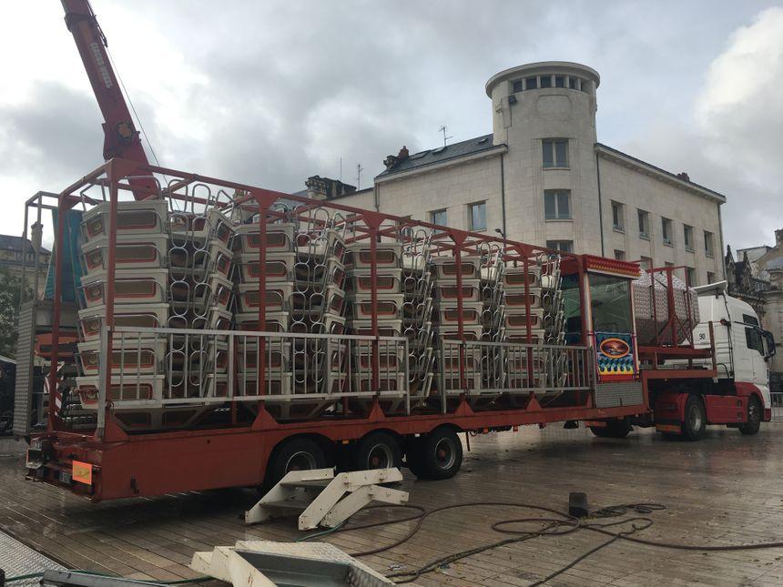 La grande roue de noël de Poitiers