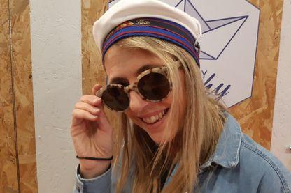 Sandrine Guyot et ses lunettes coquille saint jacques de Trouville