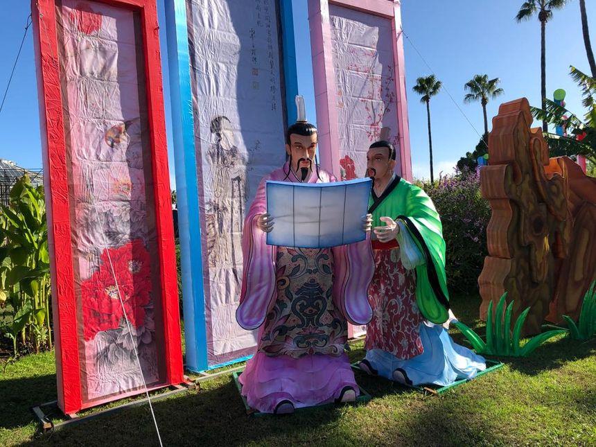 50 tableaux éclairés comme par exemple le voyage de Confucius seront présentés au public.
