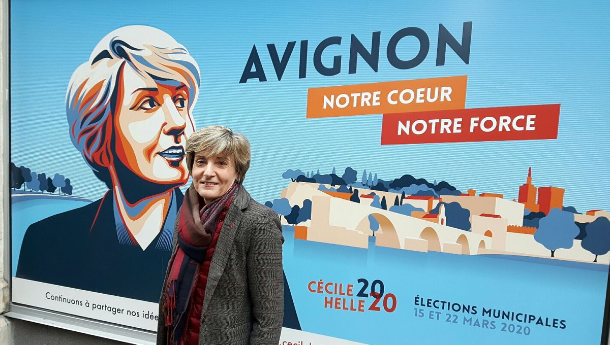 """La candidate Cécile Helle lance un appel aux avignonnais : """"j'ai besoin de sentir qu'il y a un élan populaire..."""""""