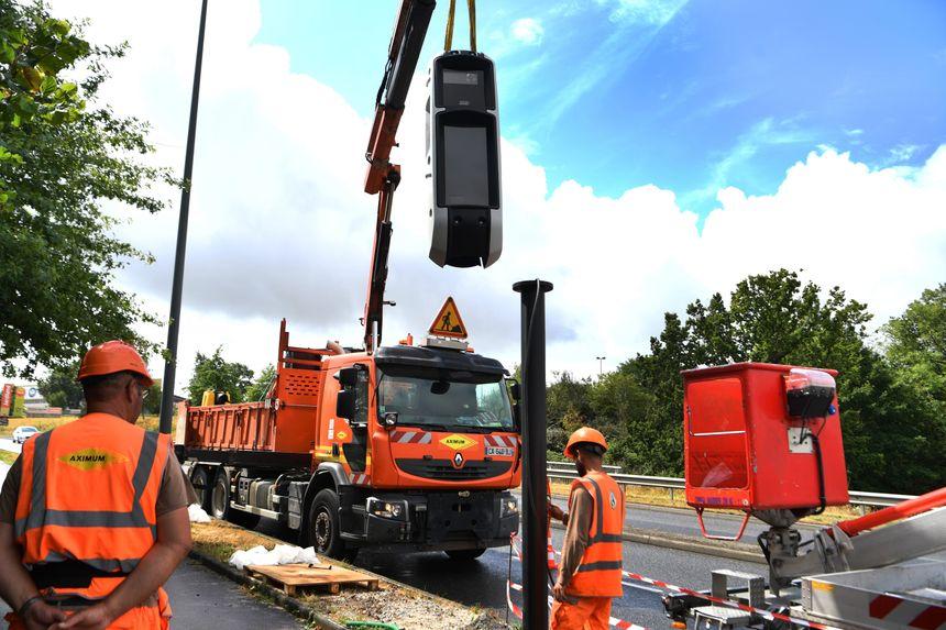 L'installation des nouveaux radars tourelles
