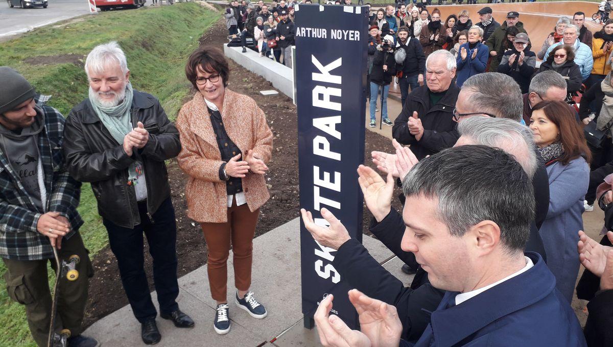 Bourges : le skate-parc Arthur Noyer inauguré en présence des parents du caporal berruyer
