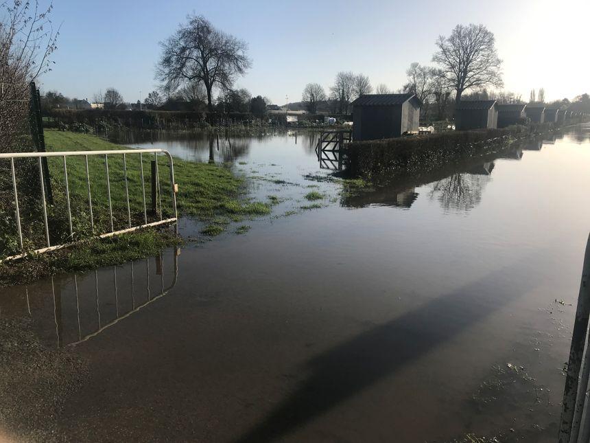 Les jardins communaux sont submergés