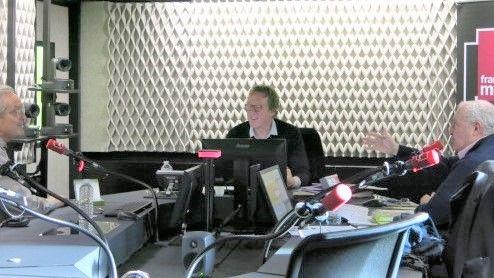France Musique, studio 451, sur le vif ! ... Daniel Popp, Benoît Duteurtre & Serge Elhaïk (g. à d.)