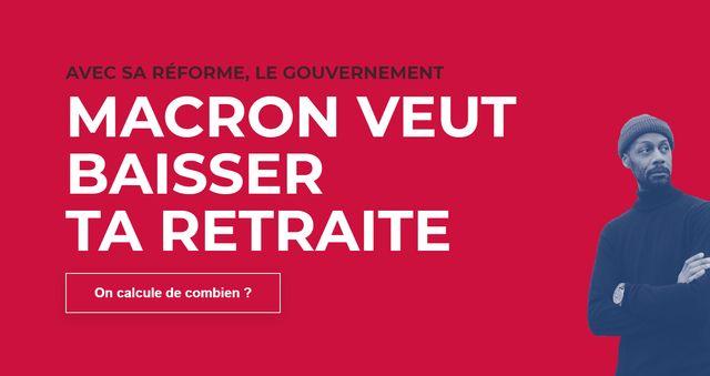 """Capture d'écran du site """"reforme-retraite"""", de la CGT ingés cadres tech"""