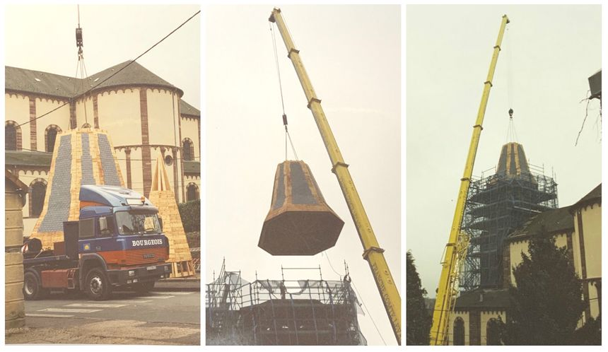 Les travaux de reconstruction du clocher ont eu lieu de septembre 2000 à mars 2001