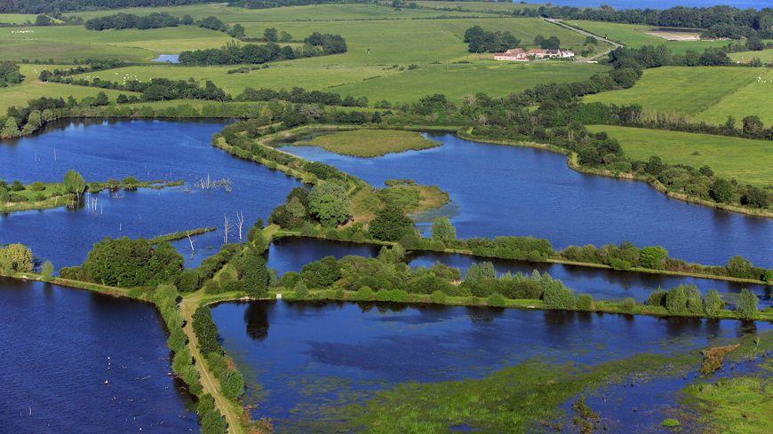 Parc Naturel Régional de la Brenne, paysage avec étangs et zones humides (photographies aériennes), - Photos Gerard LABRIET