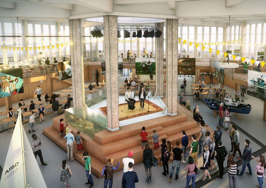 La halle aux poissons deviendra un lieu d'animation ouvert au public dès le printemps 2020