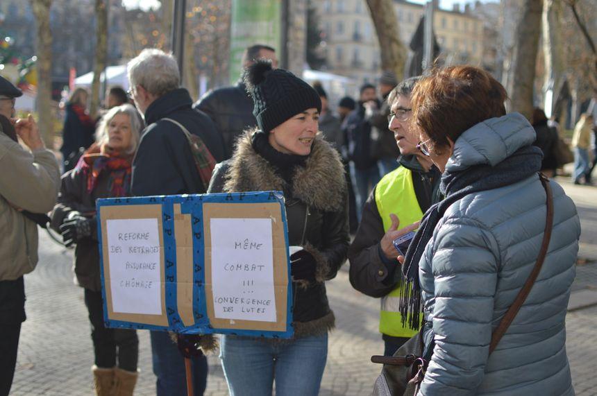 Nouvelle journée de contestation ce mardi contre la réforme des retraites à Saint-Etienne.
