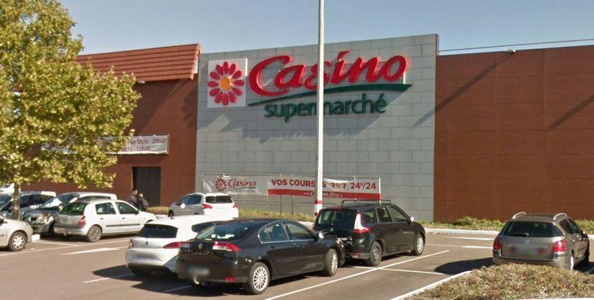 Le supermarché Casino évacué cet après-midi à Beaune (capture écran)