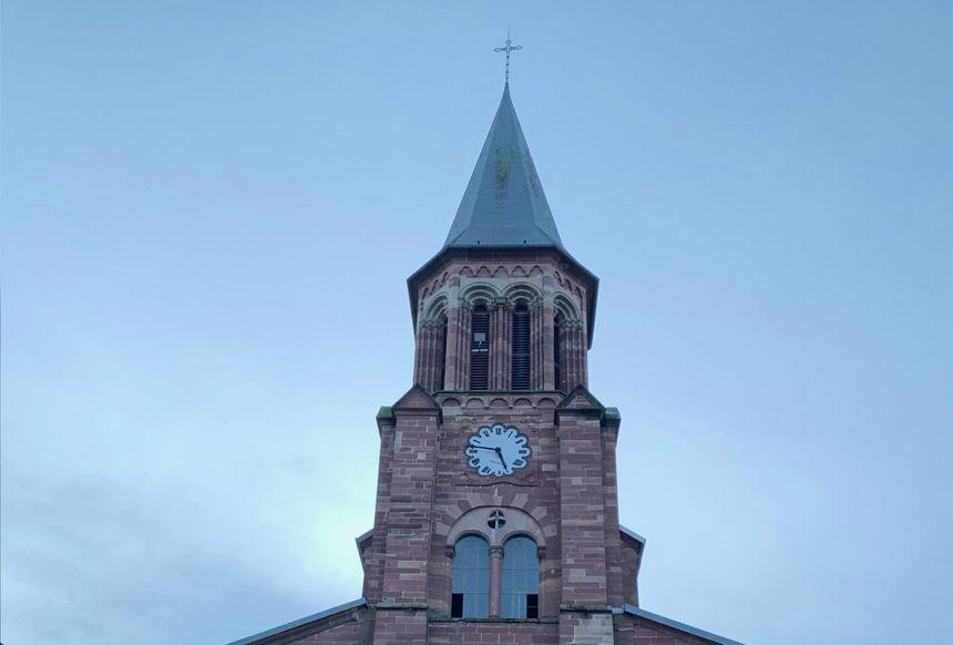 La flèche de l'église de Bavilliers aujourd'hui